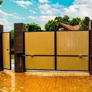 фото въездные ворота