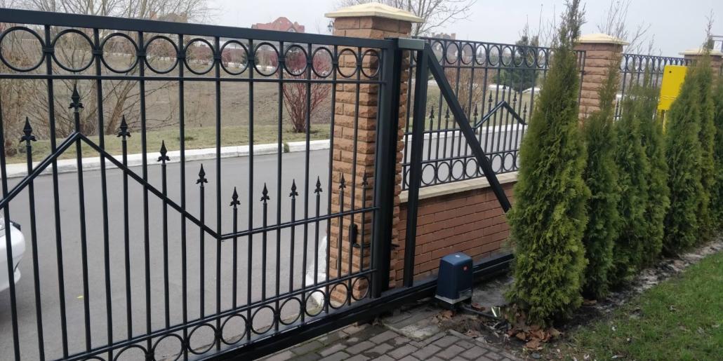 откатные автоматические ворота под заказ